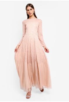 212f5a5f43c Lace   Beads pink Sila Maxi Dress 20943AAE874DA6GS 1