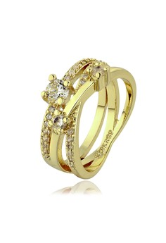 Vermina 18K Gold Plated Ring Size 7