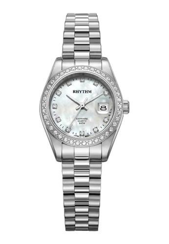 Rhythm RQ1616S 01 - Jam Tangan Wanita - Stainless - Silver White