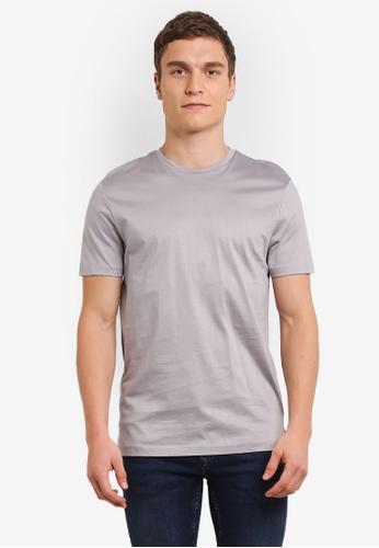 Topman silver Silver Premium T-Shirt TO413AA0SC1TMY_1