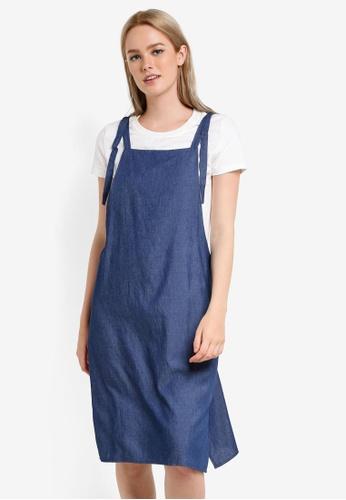 Something Borrowed blue Two Piece Midi Pinafore Dress 10B24AA385BB27GS_1