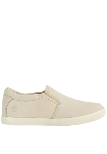 Timberland grey and beige Flannery Slip-on TI324SH11FRWHK_1