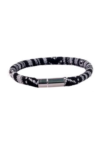 Prestige Collective black Prestige Woven Bracelets Single Loop Black PR073AC27GLGID_1