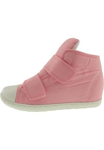 Maxstar 粉紅色 新款韩国鞋203H-2Band時尚帆布布混合女粉紅色 US Women Size MA345SH85GXQTW_1