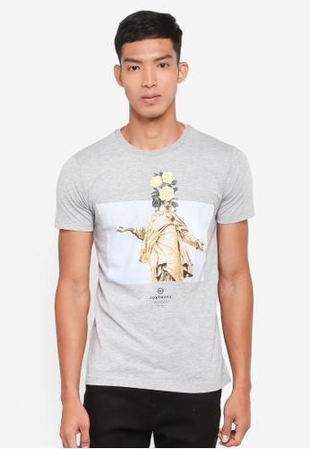 Just Hype grey Statue T-Shirt 57E1AAA78B3D09GS_1