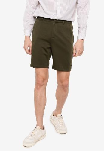 ZALORA BASICS green Jersey Tailored Shorts 1C475AAAEF4E63GS_1