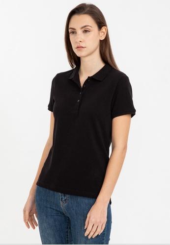 Bossini black Short Sleeve Solid Polo Shirt 59105AAF126649GS_1