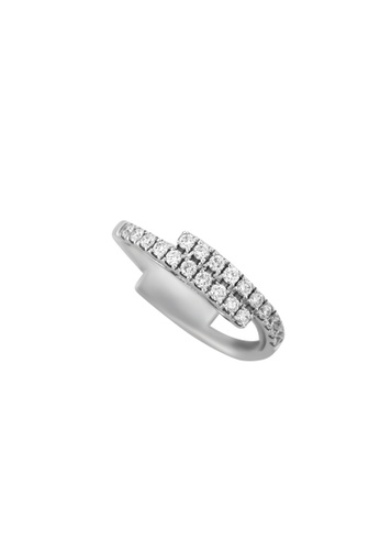 TOMEI white TOMEI Luminescence in Linearity Ring, Diamond White Gold 375 (R3615 ) EB685ACDEF1D7BGS_1
