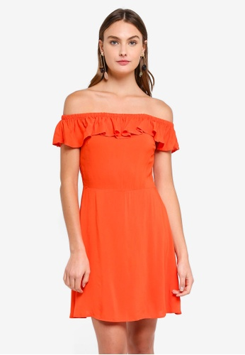 Brave Soul red Off The Shoulder Dress D2A39AA16AA17FGS_1