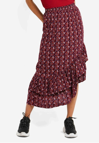 732c41e5a7 Buy Cotton On Woven Rikki Ruffle Midi Skirt | ZALORA HK