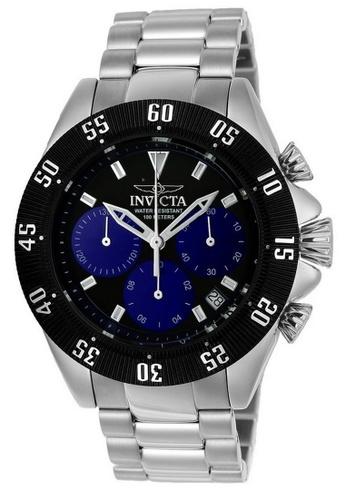 INVICTA black Invicta Speedway Men 48mm Case Silver Stainless Steel Strap Black, Blue Dial Quartz Watch 22397 IN968AC0F5G1SG_1