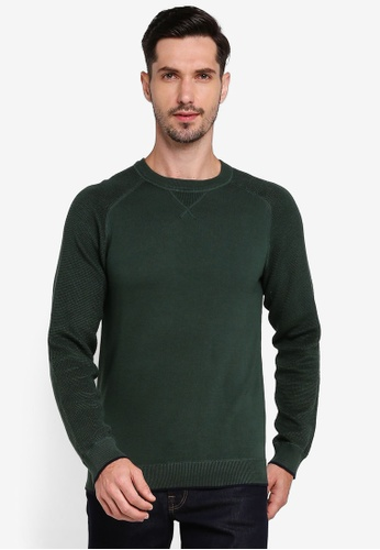 Selected Homme green Drake Crew Neck Jumper 0CE31AA0A58F50GS_1