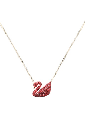 SWAROVSKI gold Iconic Swan Pendant Necklace 955DAAC41F75A8GS_1