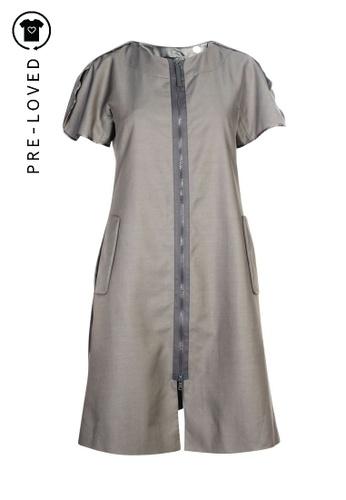 Emporio Armani grey Pre-Loved emporio armani Grey Dress With Zip 13563AA8855507GS_1
