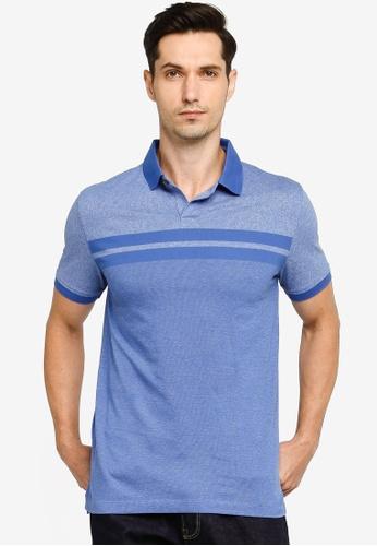 Banana Republic blue Performance Pique Siro Chest Stripe Polo Shirt C6888AAB6DA2C9GS_1