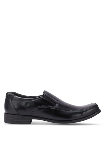 Rocklander black Solid Tone Dress Shoes RO978SH0S86UMY_1