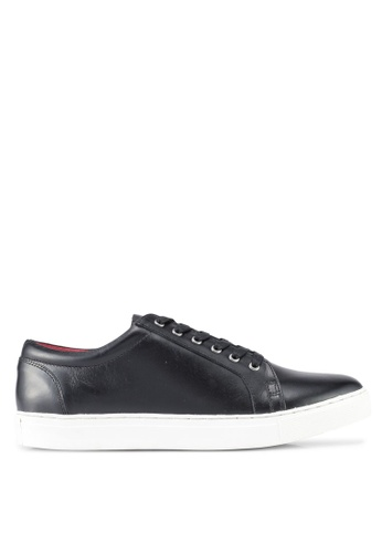 ACUTO black Leather Sneakers AC283SH0SL6PMY_1