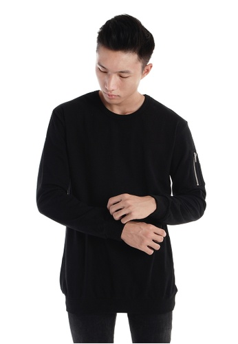 Praise black Long Sleeves Cut & Sew PR067AA06HNPSG_1