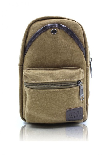 Attraxion Men's and Accessories brown Attraxion Art - 639 Sling Crossbody Bag for Men CC2BEAC5F15DA0GS_1