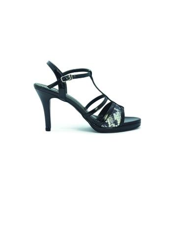 SHINE black Strapy Plateform Heels SH554SH0GE82SG_1