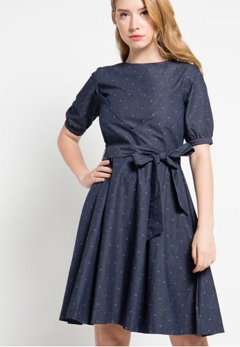 EDITION navy Dobby Dress ED101AA57ZMGID_1
