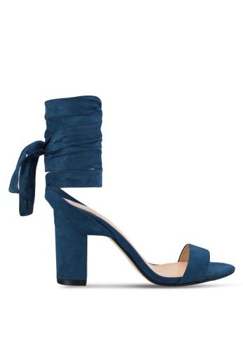 ZALORA navy Tie Up Heel Sandals 66554SH3BC955EGS_1