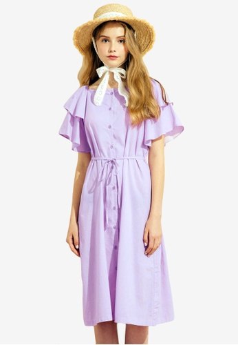 Sesura purple Sweetest Affair Dazzle Dress 61D39AA16DB474GS_1