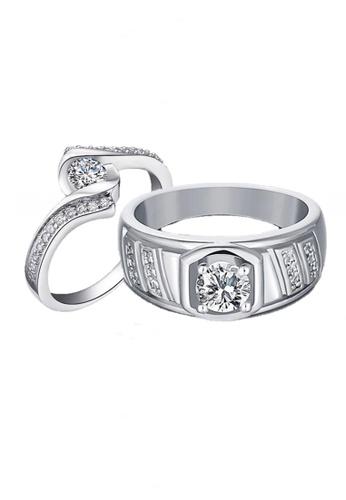 Elfi Elfi 925 Genuine Silver Couple Ring C33 EL186AC79EOIMY_1