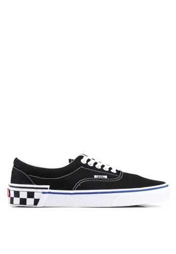 VANS black Era Check Block Sneakers 67CA3SHE214DDFGS_1