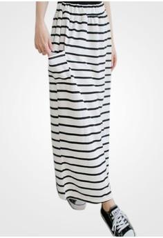 Fresh Stripes Maxi Skirt
