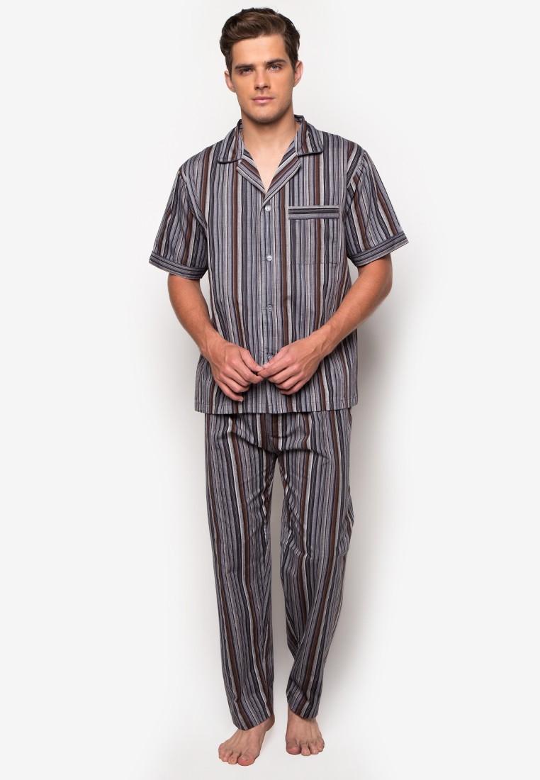Mens Woven Pajama Set