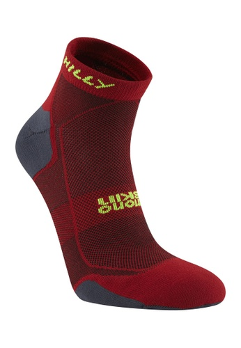 HILLY Hilly Women's Pace Quarter Socks (Burgundy/ Yellow) 9670AAA3AFE51DGS_1