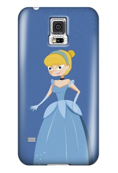 Glass Shoes Princess Glossy Hard Case for Samsung Galaxy S5