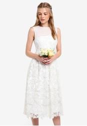 ZALORA white Bridesmaid Structured Lace Midi Dress 7C80DZZ0A4BF6DGS_1