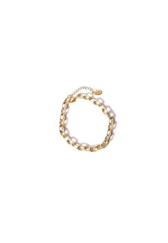 CLOVER gold Clover Gold Chunk Link Bracelet 10CA4AC3B1A815GS_1