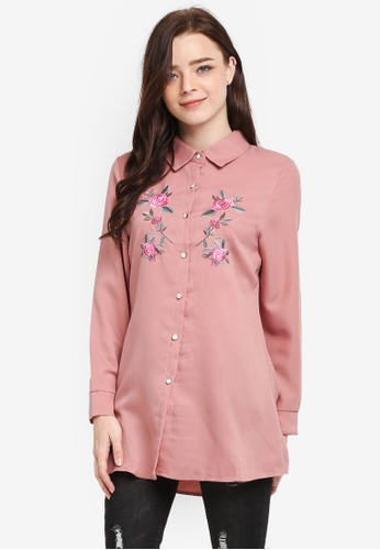 BYN pink Embroidery Shirt B0BE6AA717F616GS_1