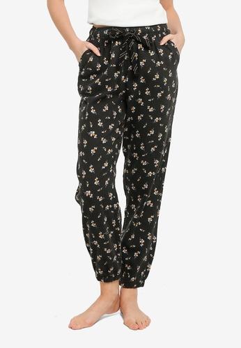 Cotton On Body black Floral Sleep Pants 4634CAAE1E0817GS_1
