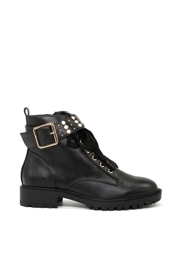 London Rag black Black Ankle Zipper Lace up boots E5CC7SH7618AFEGS_1