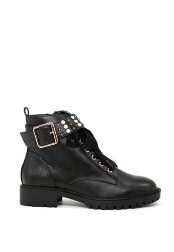 London Rag black Black Ankle Zipper Lace up boots SH1427 E5CC7SH7618AFEGS_1