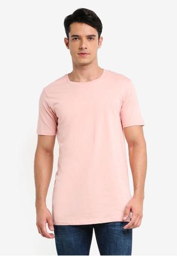 Factorie pink The Tall Tee BEA4FAA1CD7332GS_1