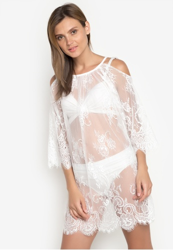 All Things New white Summer Bikini Lace Coverup 20DDBUS6E580D3GS_1