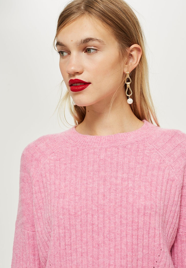 TOPSHOP Jumper Striped Pink Cropped Petite 7C7w6qxT