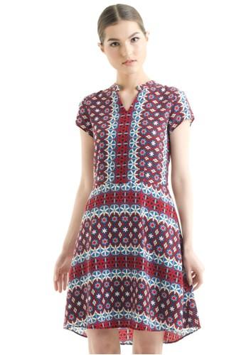 Bateeq Short Sleeve Doby Print Dress