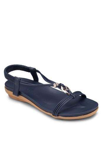 四葉草金飾T字帶涼鞋, 女鞋esprit 價位, 涼鞋