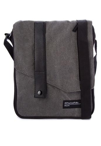 Penshoppe grey Canvas Sling Bag 9DD32AC7F53E8EGS_1