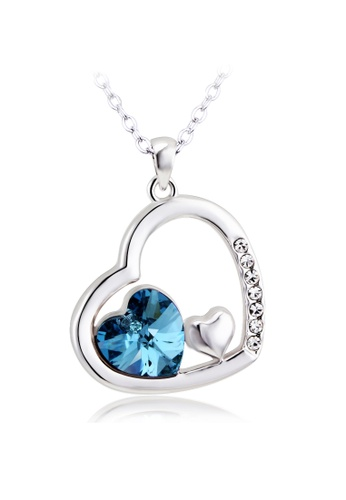 OUXI blue and silver OUXI Passion of Love Necklace OU821AC77GLQMY_1