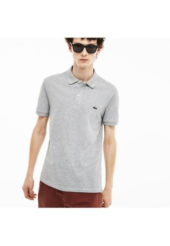 Lacoste silver Lacoste Men's Slim Fit Polo Shirt in Petit Piqué 6288CAA7DE7877GS_1