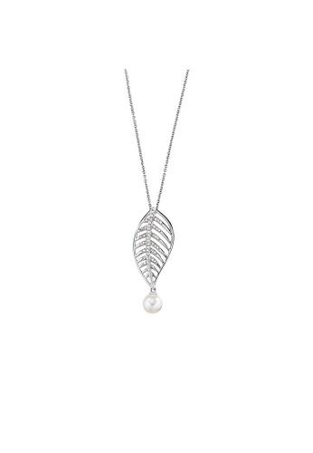 Morellato silver Morellato Foglia Steel Pearls Crystals Ladies Necklace SAKH11 1808EAC1C25FD6GS_1