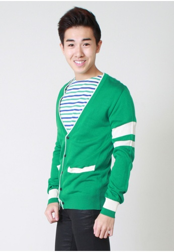 M-Wanted green M. Preppy Cardigan MW173AA57AVESG_1