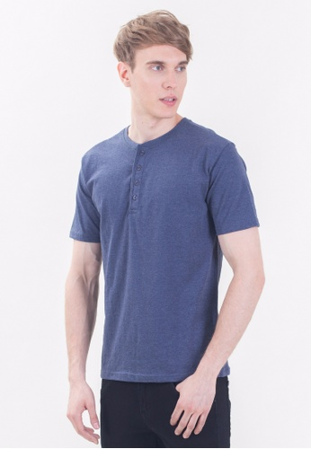 Drum Basic Plain Tee With 4 Button -NBL DR425AA97RIGMY_1